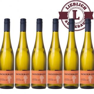 Weißwein Rheinhessen Scheurebe Weingut Dackermann Auslese 108° lieblich ( 6 x 0, 75 l)