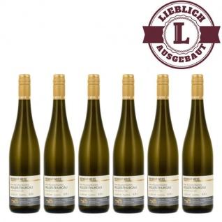 Weißwein Rheinhessen Müller Thurgau Weingut Roland Mees Nahe Kreuznacher Rosenberg Qualitätswein lieblich (6 x 0, 75l)