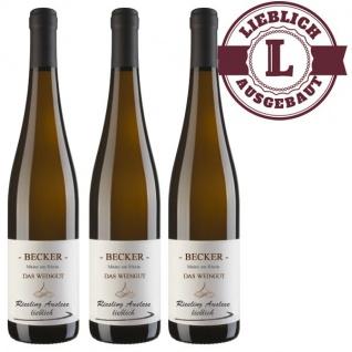 Weißwein Rheinhessen Riesling Weingut Becker Auslese lieblich (3 x 0, 75)