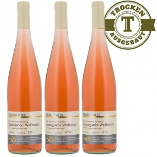 Rosé Nahe Spätburgunder Weingut Roland Mees Kreuznacher Rosenberg trocken (3 x 0, 75l)