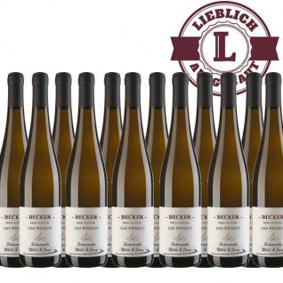 Weißwein Rheinhessen Scheurebe Weingut Becker lieblich (12 x 0, 75 l)