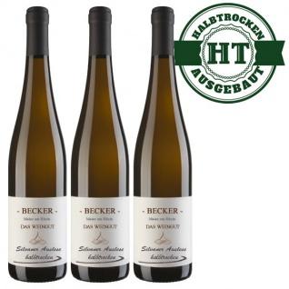Weißwein Rheinhessen Silvaner Weingut Becker halbtrocken ( 3 x 0, 75 l)