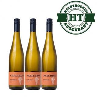 Weißwein Rheinhessen Kerner Weingut Dackermann Gutswein halbtrocken ( 3 x 0, 75 l)