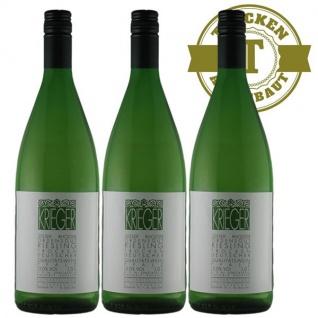 Weißwein Pfalz Riesling Weingut Krieger Rhodter Ordensgut trocken (3 x 1, 0 l)