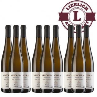 Weißwein Rheinhessen Kerner Weingut Becker Qualitätswein lieblich ( 9 x 0, 75 l)
