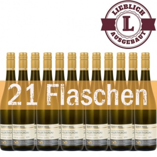 Weißwein Rheinhessen Müller Thurgau Weingut Roland Mees Nahe Kreuznacher Rosenberg Qualitätswein lieblich (12 x 0, 75l)