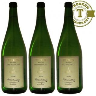 Weißwein Rheinhessen Gutsschoppen Weingut Becker trocken (3 x 1, 0 l)