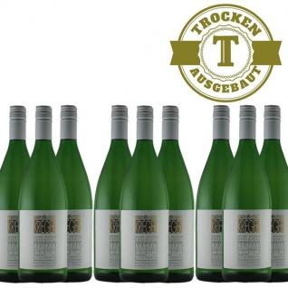 Weißwein Pfalz Weißburgunder Weingut Krieger Rhodter Ordensgut trocken (9 x 1, 0L )