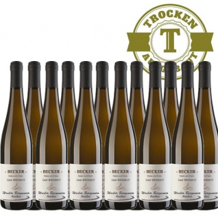 Weißwein Rheinhessen Weißer Burgunder Weingut Becker trocken (12 x 0, 75 l)