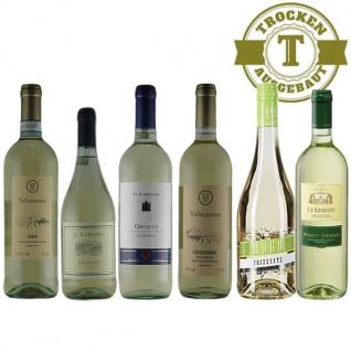 Weißwein Probierpaket Italien trocken (6x0, 75l) Chardonnay aus Venezien | Pinot Grigio von Ca´Ernesto | Hugo