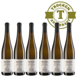 Weißwein Rheinhessen Riesling Weingut Becker Schloßberg trocken ( 6 x 0, 75 l)