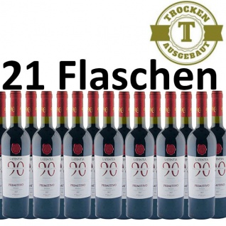 Rotwein Italien Primitivo Puglia IGP Novantaceppi (21x0, 75)