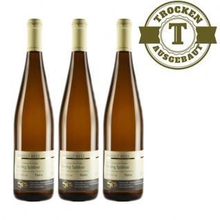 Weißwein Nahe Riesling Weingut Roland Mees Spätlese Paradies trocken (3 x 0, 75l)