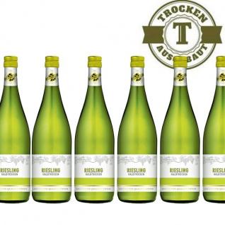 Weißwein Rheinhessen Riesling halbtrocken (6 x 1, 0 l)