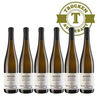 Weißwein Rheinhessen Weißer Burgunder Weingut Becker trocken ( 6 x 0, 75 l)