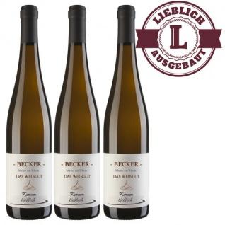 Weißwein Rheinhessen Kerner Weingut Becker Qualitätswein lieblich ( 3 x 0, 75 l)
