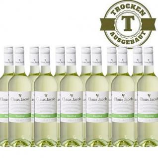 Weißwein Pfalz Riesling Claus Jacob trocken12 x 0, 75 Liter