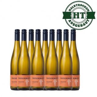 Weißwein Rheinhessen Kerner Weingut Dackermann Gutswein halbtrocken ( 9 x 0, 75 l)