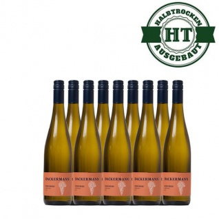 Weißwein Rheinhessen Scheurebe Weingut Dackermann Gutsriesling halbtrocken (9 x 0, 75 l)