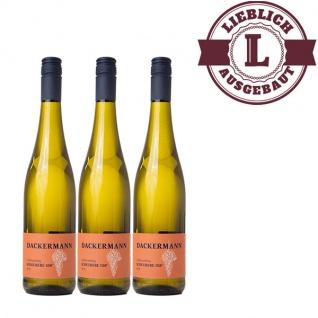 Weißwein Rheinhessen Scheurebe Weingut Dackermann Auslese 108° lieblich ( 3 x 0, 75 l)