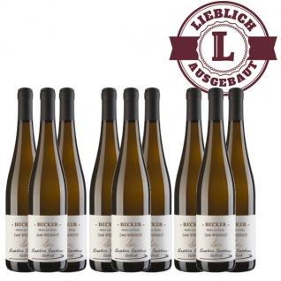 Weißwein Rheinhessen Saphira Weingut Becker Spätlese lieblich ( 9 x 0, 75 l)
