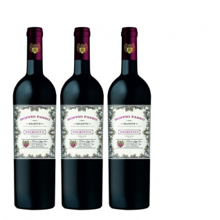 Rotwein Italien Primitivo Salento Doppio Passo halbtrocken (3x0, 75)