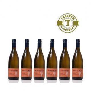 Weißwein Rheinhessen Chardonnay Weingut Dackermann Ortswein trocken ( 6 x 0, 75 l)