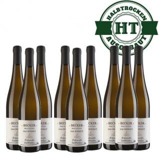 Weißwein Rheinhessen Scheurebe Weingut Becker halbtrocken ( 9 x 0, 75 l)