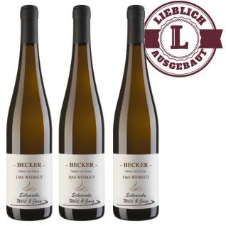 Weißwein Rheinhessen Weingut Becker Scheurebe lieblich (3 x 0, 75 l)