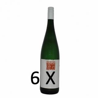Weißwein Pfalz Rivaner Weingut Krieger Rhodter Schloßberg Kabinett feinherb (6 x 0, 75l)