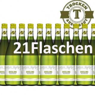 Weißwein Rheinhessen Riesling halbtrocken (21 x 1, 0 l)