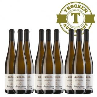 Weißwein Rheinhessen Riesling Weingut Becker Auslese trocken (9 x 0, 75 l)