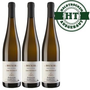 Weißwein Rheinhessen Scheurebe Weingut Becker halbtrocken ( 3 x 0, 75 l)
