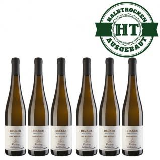 Weißwein Rheinhessen Riesling Weingut Becker halbtrocken ( 6 x 0, 75 l)