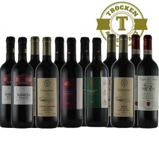 Rotwein Italien Probierpaket trocken Maxi (12x0, 75L)