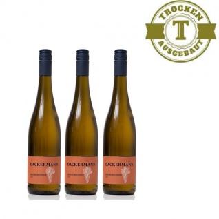 Weißwein Rheinhessen Grauburgunder Weingut Dackermann Gutswein trocken (3 x 0, 75 l)