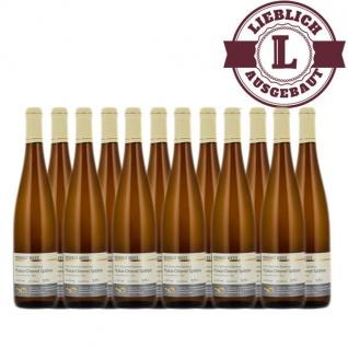 Weißwein Nahe Muskat - Ottonel Weingut Roland Mees Nahe Kreuznacher Rosenberg Spätlese lieblich (12 x 0, 75l)