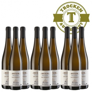 Weißwein Rheinhessen Riesling Weingut Becker Schloßberg trocken ( 9 x 0, 75 l)