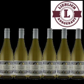 Weißwein Pfalz Muskateller Weingut Krieger Rhodter Ordensgut lieblich ( 6 x 0, 75 l)