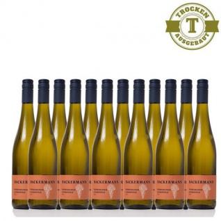 Weißwein Rheinhessen Chardonnay & Weißburgunder Weingut Dackermann Gutswein trocken (12 x 0, 75 l)