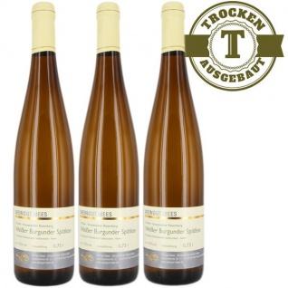 Weißwein Nahe Weißer Burgunder Weingut Roland Mees Kreuznacher Rosenberg Spätlese trocken (3 x 0, 75l)