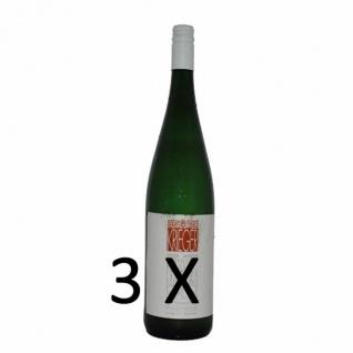 Weißwein Pfalz Rivaner Weingut Krieger Rhodter Schloßberg Kabinett feinherb (3 x 0, 75l)