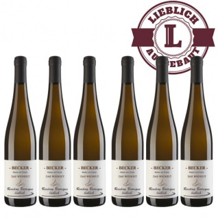 Weißwein Rheinhessen Riesling Weingut Becker Spätlese Barrique lieblich ( 6 x 0, 75 l)