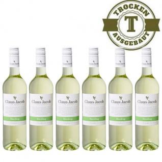 Weißwein Pfalz Riesling Claus Jacob trocken6 x 0, 75 Liter