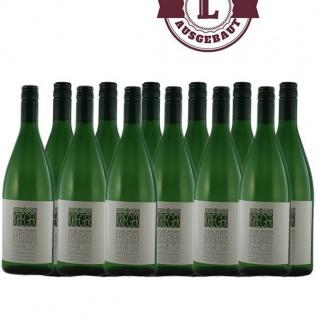 Weißwein Pfalz Bacchus Weingut Krieger Rhodter Ordensgut lieblich (12 x 1, 0 l)
