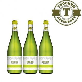 Weißwein Rheinhessen Riesling Weinhaus halbtrocken (3 x 1, 0 l)