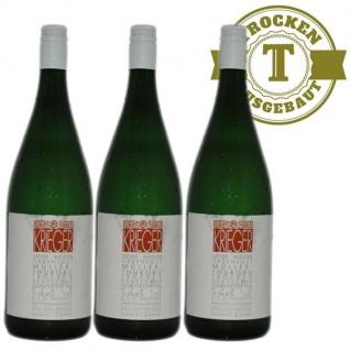 Weißwein Pfalz Müller Thurgau Weingut Krieger Rhodter Ordensgut lieblich ( 3 x 1, 0l)