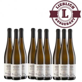 Weißwein Rheinhessen Riesling Weingut Becker Auslese lieblich ( 9 x 0, 75)