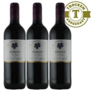 Rotwein Frankreich Merlot Jean Dellac trocken (3x0, 75L)