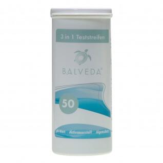 BALVEDA 3 in 1 Teststreifen Aktivsauerstoff, pH & Algenschutz, 50 Stück